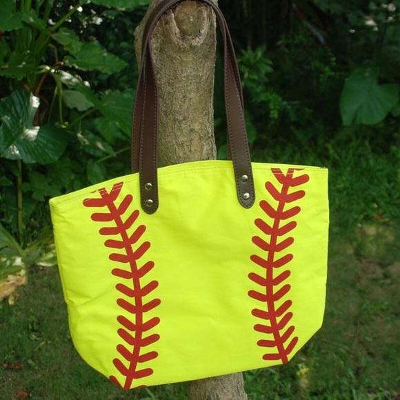 Bags   Sale Firm Pricesoftball Canvas Bag   Poshmark 577027281e